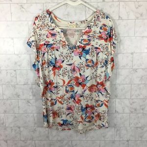 Meadow Rue Anthropologie Floral Top QQ09💕